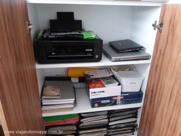 impressora no armario