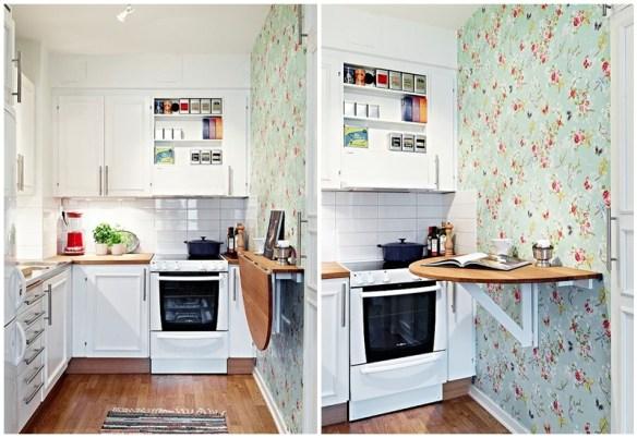 mesa dobravel parede mesa suspensa retratil cozinha pequena 2