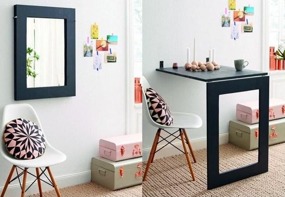 Mesa dobr vel ideias para pequenos espa os viajando no - Mesa plegable pequena ...