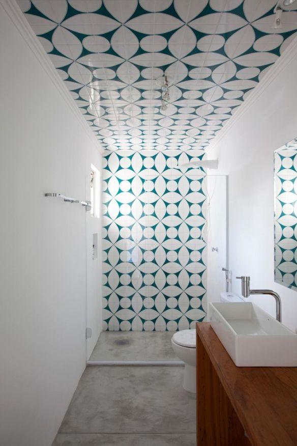 azulejo hidraulico banheiro parede teto