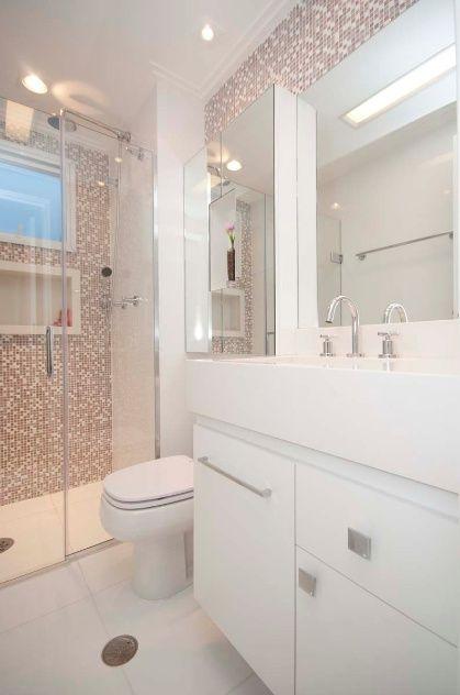 Banheiros decorados  112 imagens inspiradoras!  Viajando no ApêViajando no Apê -> Banheiro Com Pastilhas No Vaso