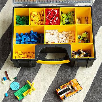 caixa ferramentas guardar organizar legos