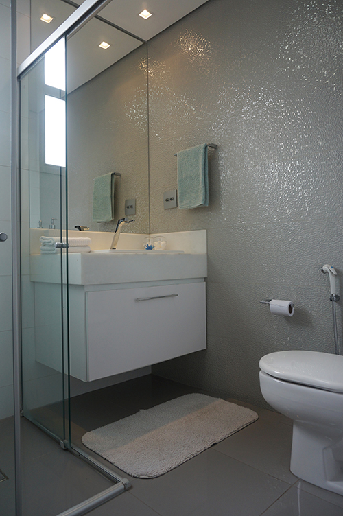 decoracao banheiro revestimento cinza venis porcelanosa