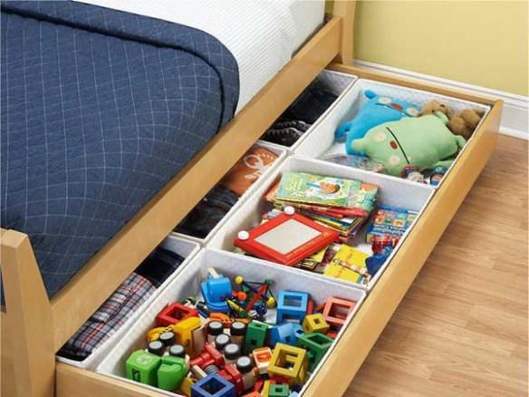 guardar brinquedos embaixo da cama ideias