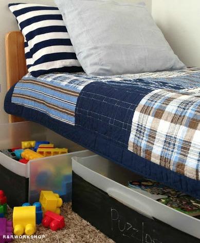 organizacao brinquedos embaixo cama ideias