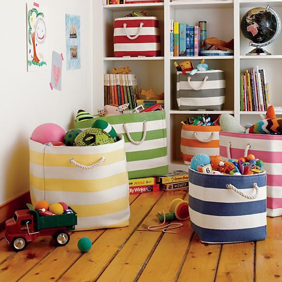 organizacao quarto criancas cestos