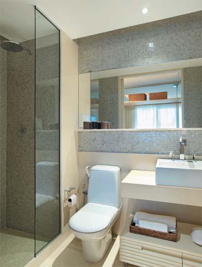 pastilhas madreperola parede banheiro