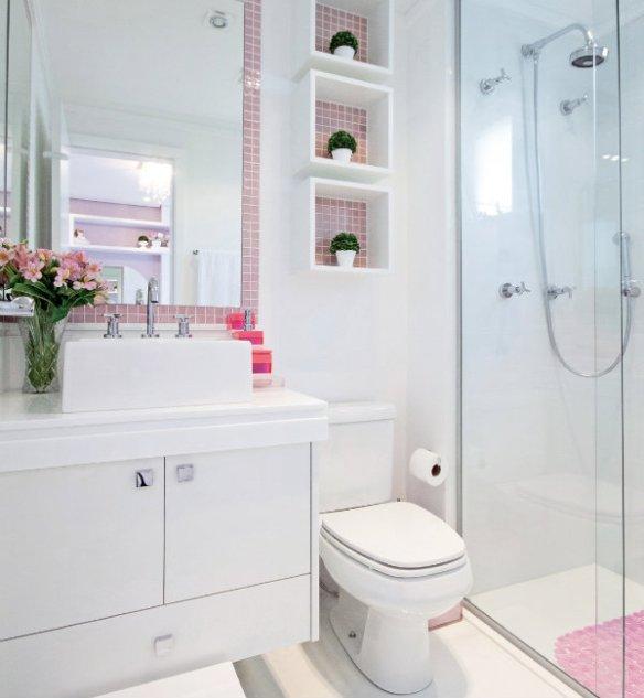 pastilhas rosas banheiro menina decoracao feminina