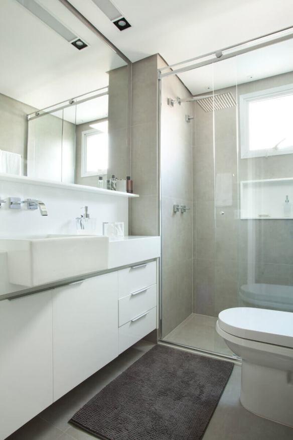 porcelanato cinza cimento banheiro