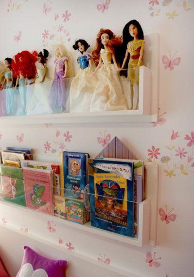 prateleira bonecas barbie organizacao brinquedos ideias