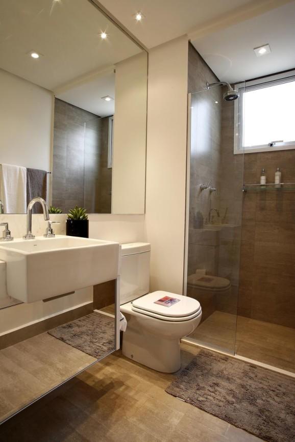 revestimento que imita madeira boxe banheiros decorados decoracao natural