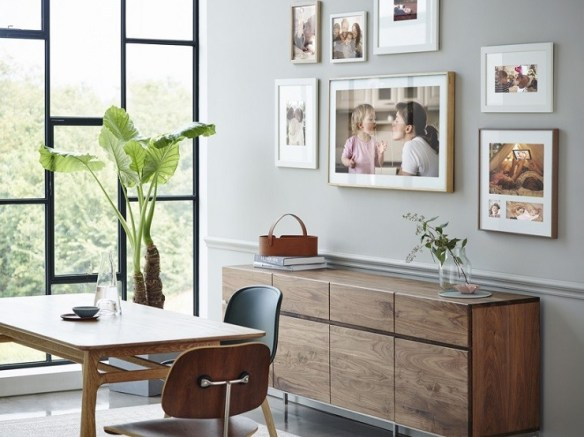 tv quadros Samsung-The-Frame-TV disfarcar tv decoracao