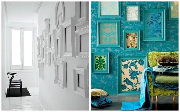 molduras cor da parede ideias decoracao composicao quadros parede 2