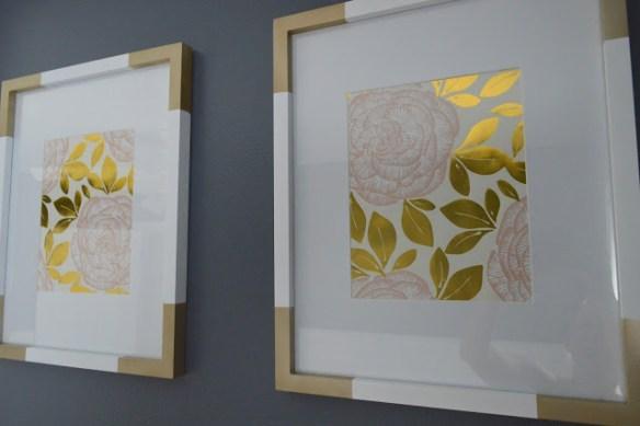 personalizar molduras decorar ideias tinta spray dourada decoração molduras quadros