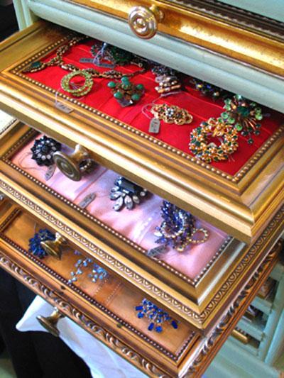 organizador bijuterias gavetas criativo reutilizacao quadros molduras reciclagem reaproveitamento 4