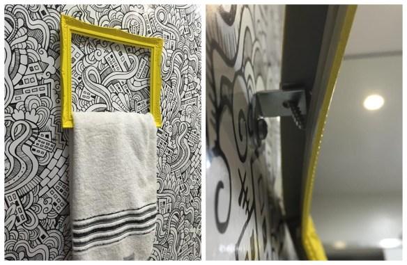 porta toalha moldura faca voce mesmo diy decoracao criativa