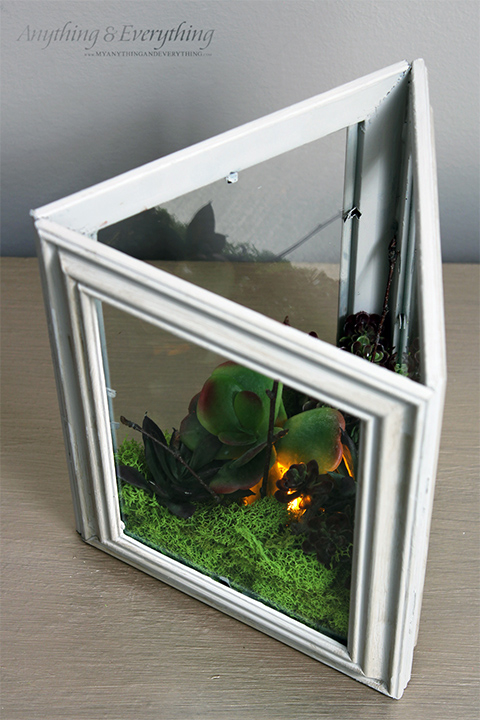 terrario iluminado fake molduras por retrato reutilizar reciclar reaproveitar