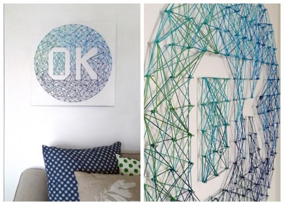 arte com linhas prego parede quadro decoracao faca voce mesmo diy