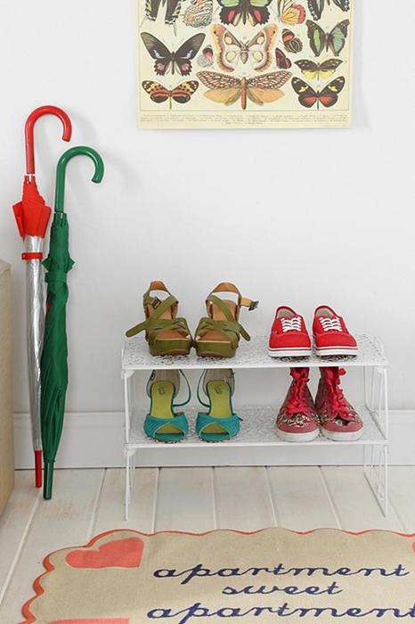 como organizar sapatos na entrada de casa