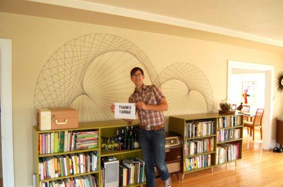 decoração com linha arte parede string art decoracao criativa linha prego