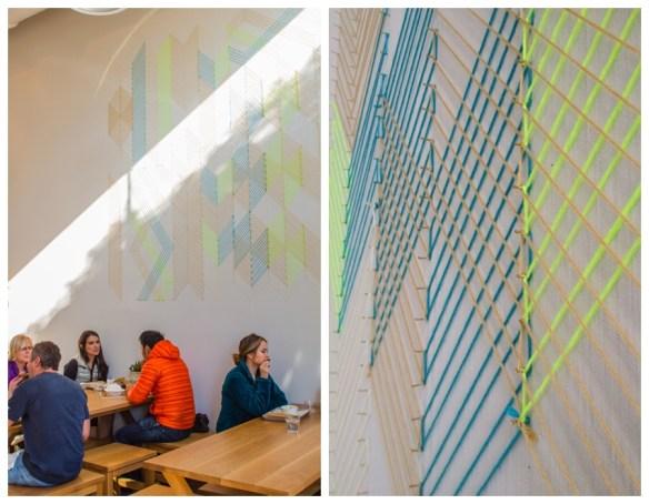decoracao parede com linhas e pregos geometria decoracao criativa