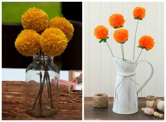 flores pompom decoracao faca voce mesmo diy