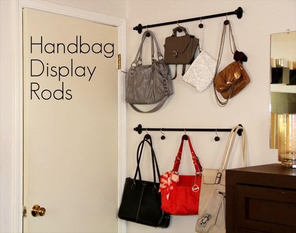 organizacao bolsas varao cortina atras da porta ideias pequenos espacos