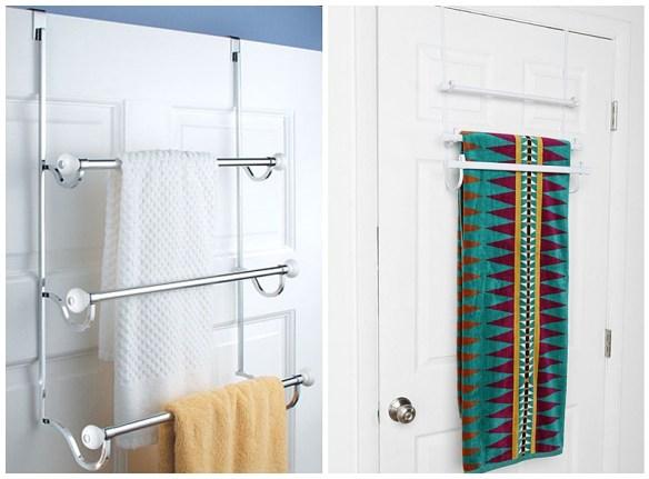 porta toalhas atras da porta banheiro pequeno toalheiro ideias espacos reduzidos 3