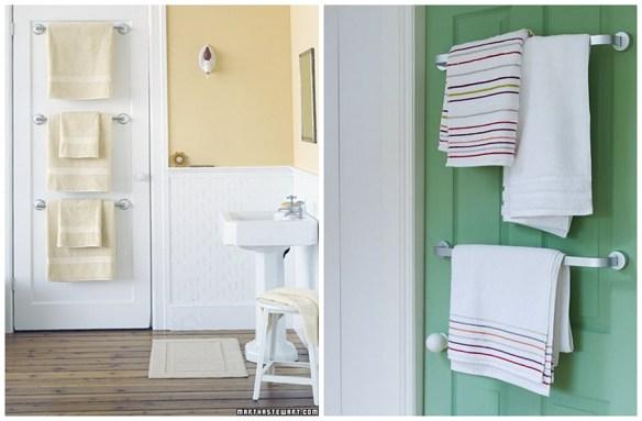 porta toalhas atras da porta banheiro pequeno toalheiro ideias espacos reduzidos