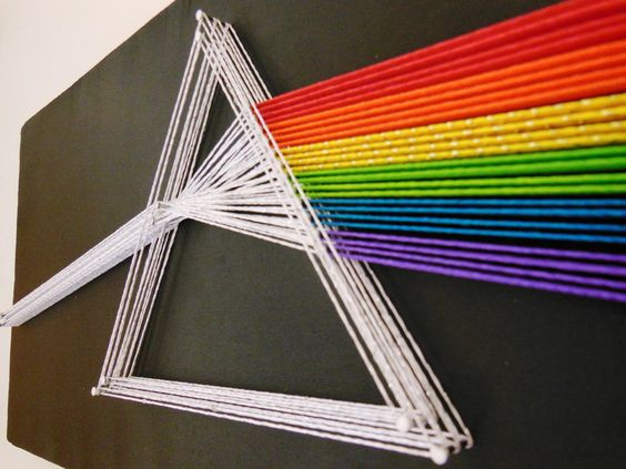 quadro criativo linha pregos decoração com linha faca voce mesmo diy