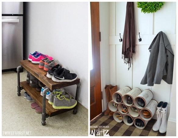 sapateira pvc organizacao sapatos entrada casa apartamento