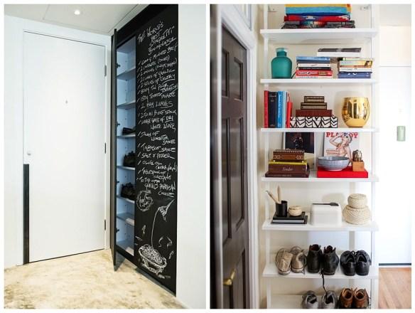 sapateiras no hall de entrada organizar sapatos na porta entrada estante armario fechado
