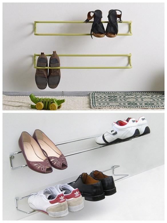 suporte parede sapatos organizacao calcados entrada hall