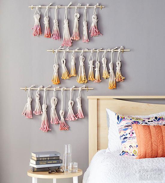 tassel pingente franjas decoracao parede faca voce mesmo diy