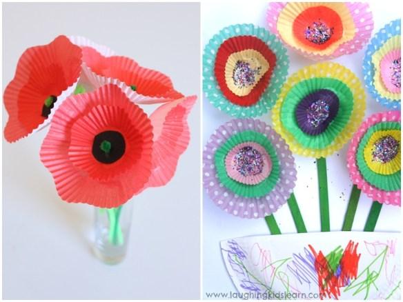 atividades artes criancas forminhas doces cupcake flores 3