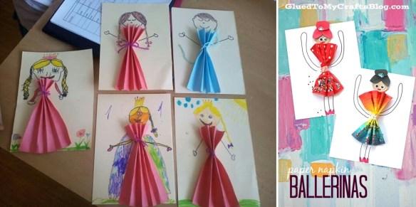 atividades criancas colagem vestidos ideias criativas