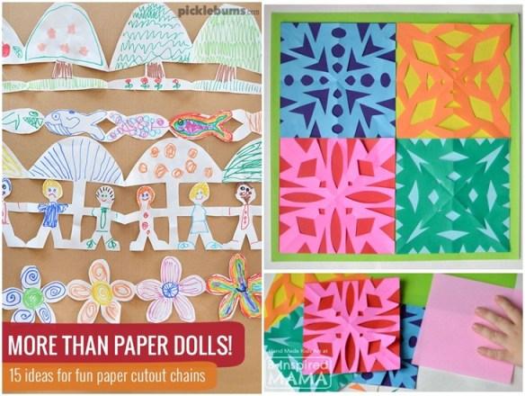 atividades criancas recorte papel dobrado artes