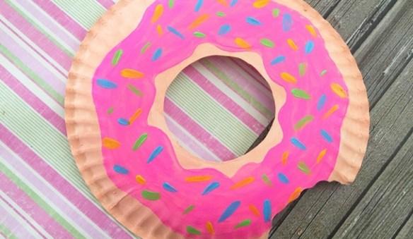 atividades infantis criancas artes pintura ideias faceis e baratas prato de papel donut rosquinha doce