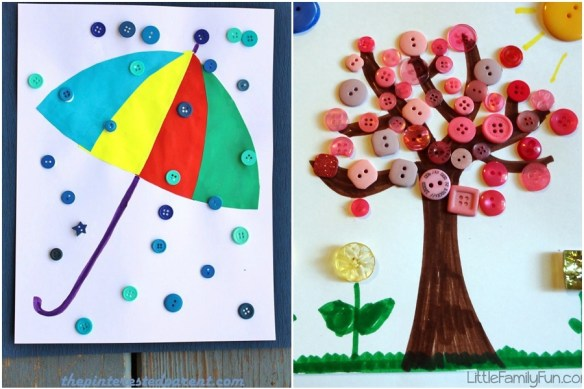 atividades infantis criancas colagem botoes passatempo artes