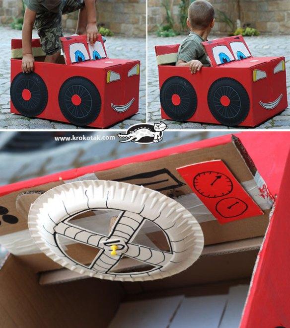 carrinho papelao filme carros caixa papelao construções criativas