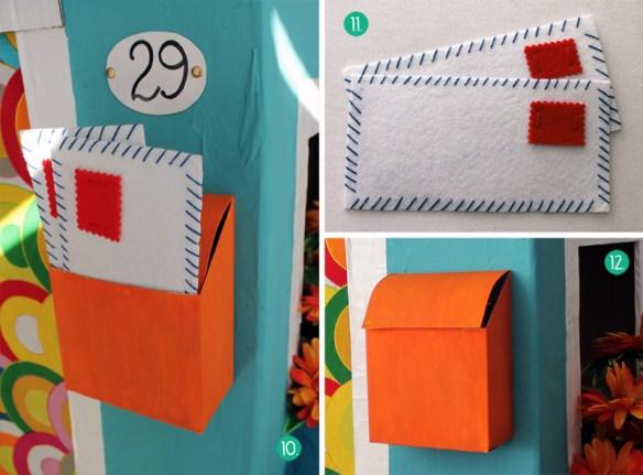 casinha de papelao detalhe porta correspondencia