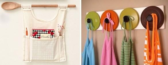 ideias para decorar a cozinha suporte avental porta receita
