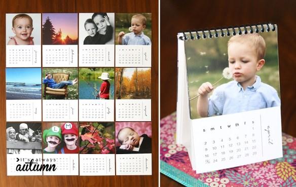 mini calendario com fotos personalizados faca voce mesmo diy