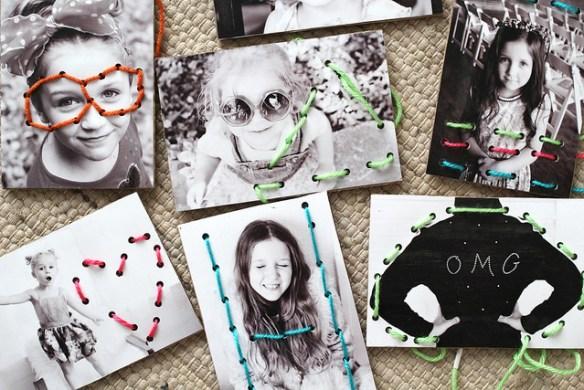 projetos com fotos ideias criativas costura linhas nas fotografias