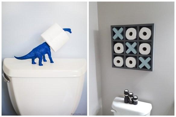 rolo papel higienico banheiro decoracao divertida