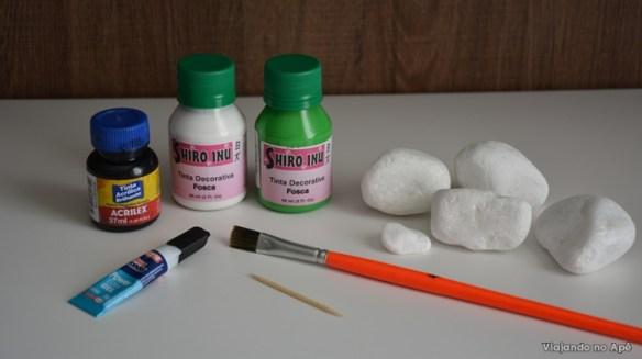 cacto de pedra materiais utilizados