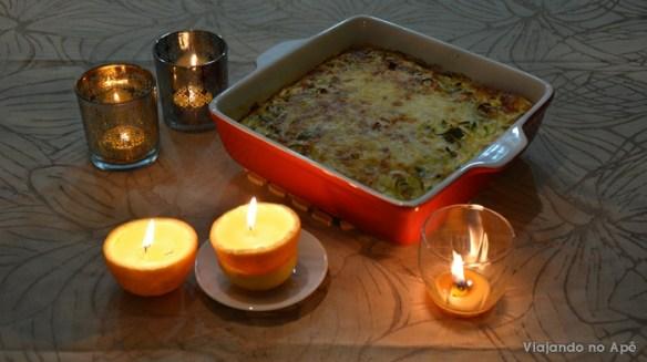omelete ao forno velas casca de laranja