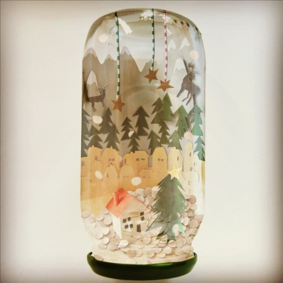 pote vidro decoraçao natal globo de neve diferente