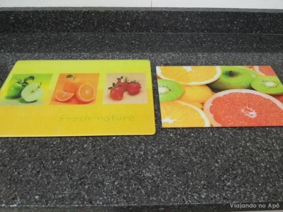 tabua de corte de vidro cozinha