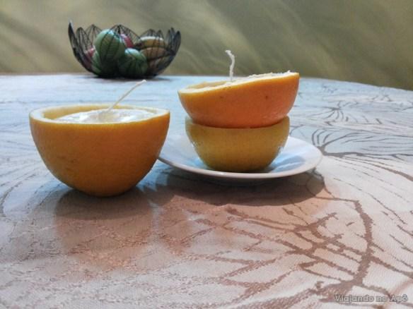 vela casca de laranja